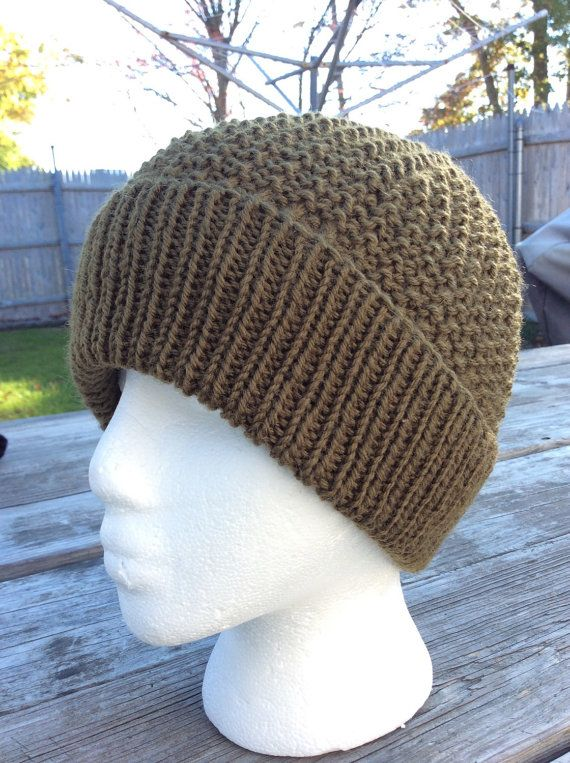 e19bd7975c3 Men s Knit Beanie Wool Teen Boy Beanie Slouch by WendysWonders127