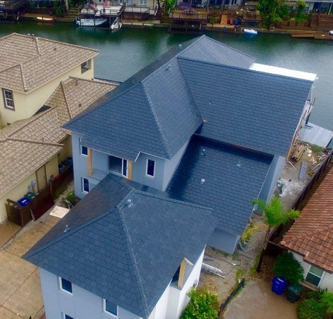 Gaf Truslate Truegrip Battens And Hangers Hold The Slate Shingles And Hdpe In Place The Stainless Steel Battens Are Slate Shingles Roof Cost Roof Shingles