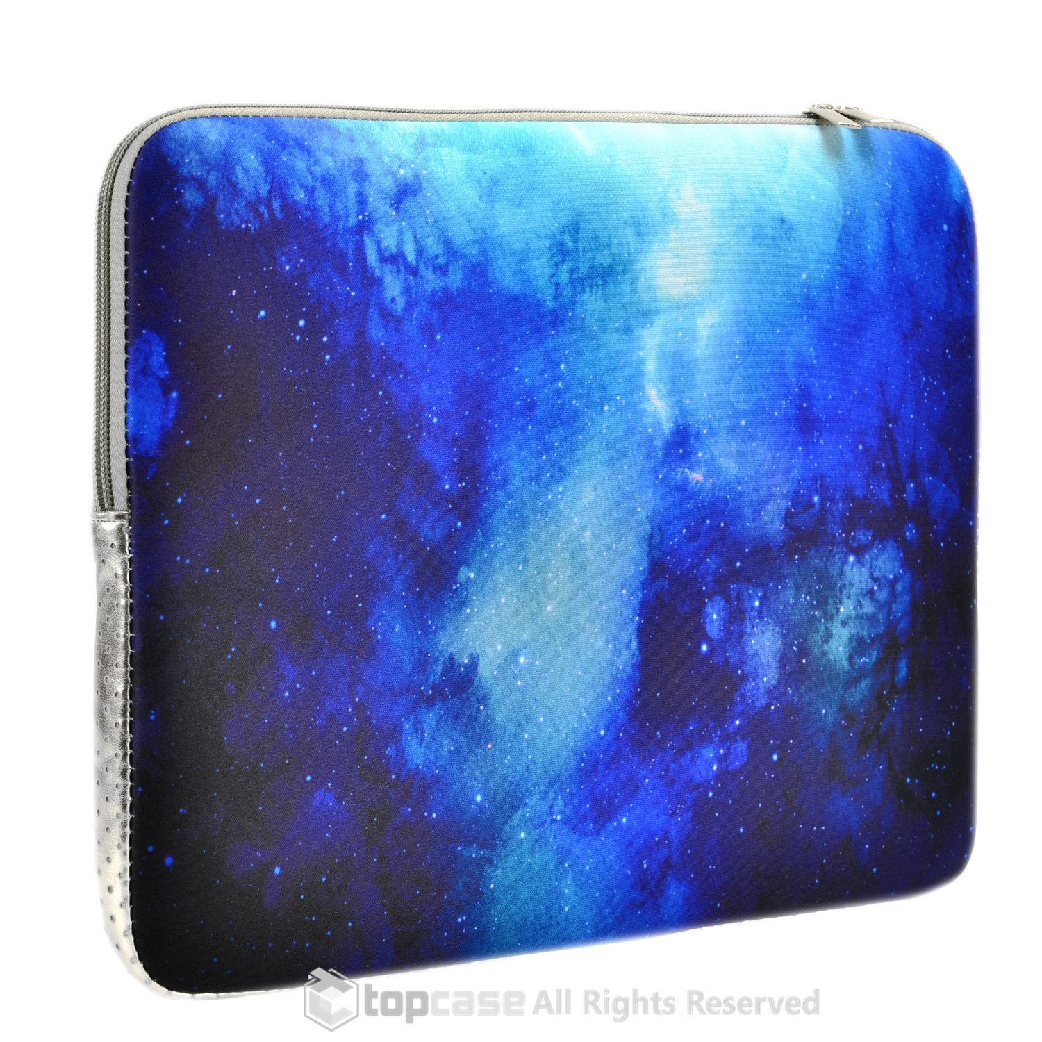 "Blue Galaxy Graphic Zipper Sleeve Bag Case for All Laptop 13"" 13-inch Macbook Pro with or without Retina Display / Macbook Air / Macbook Unibody / Ultrabook / Chromebook"