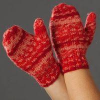 Children's North Pole Mittens Free Knitting Pattern | NobleKnits Free Patterns