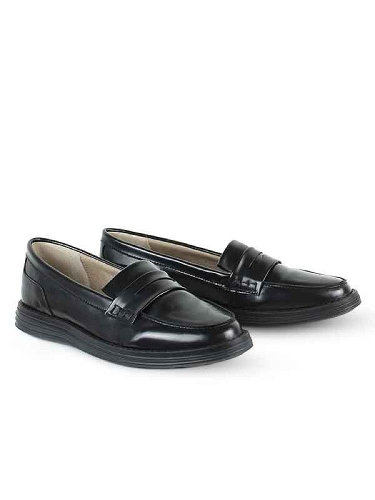 5e88f02cfc3 Vegan Vegetarian Non-Leather Womens Black Loafers 100