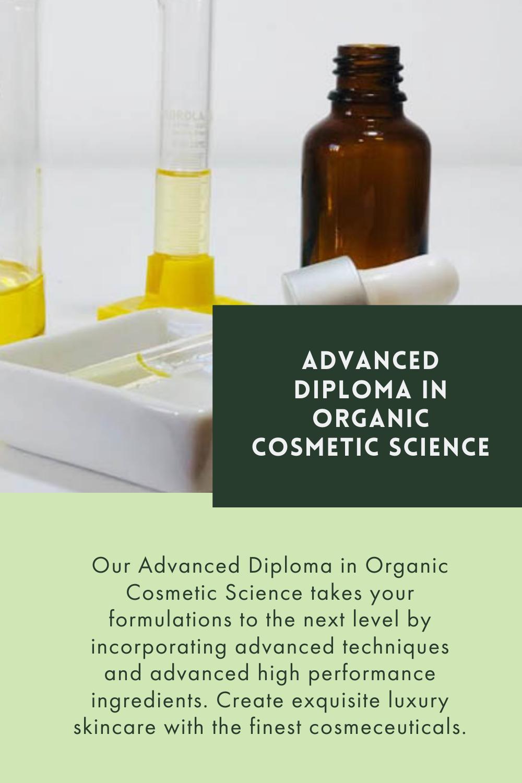 Advanced Diploma In Organic Cosmetic Science In 2020 Organic Cosmetics Botanica Luxury Skincare