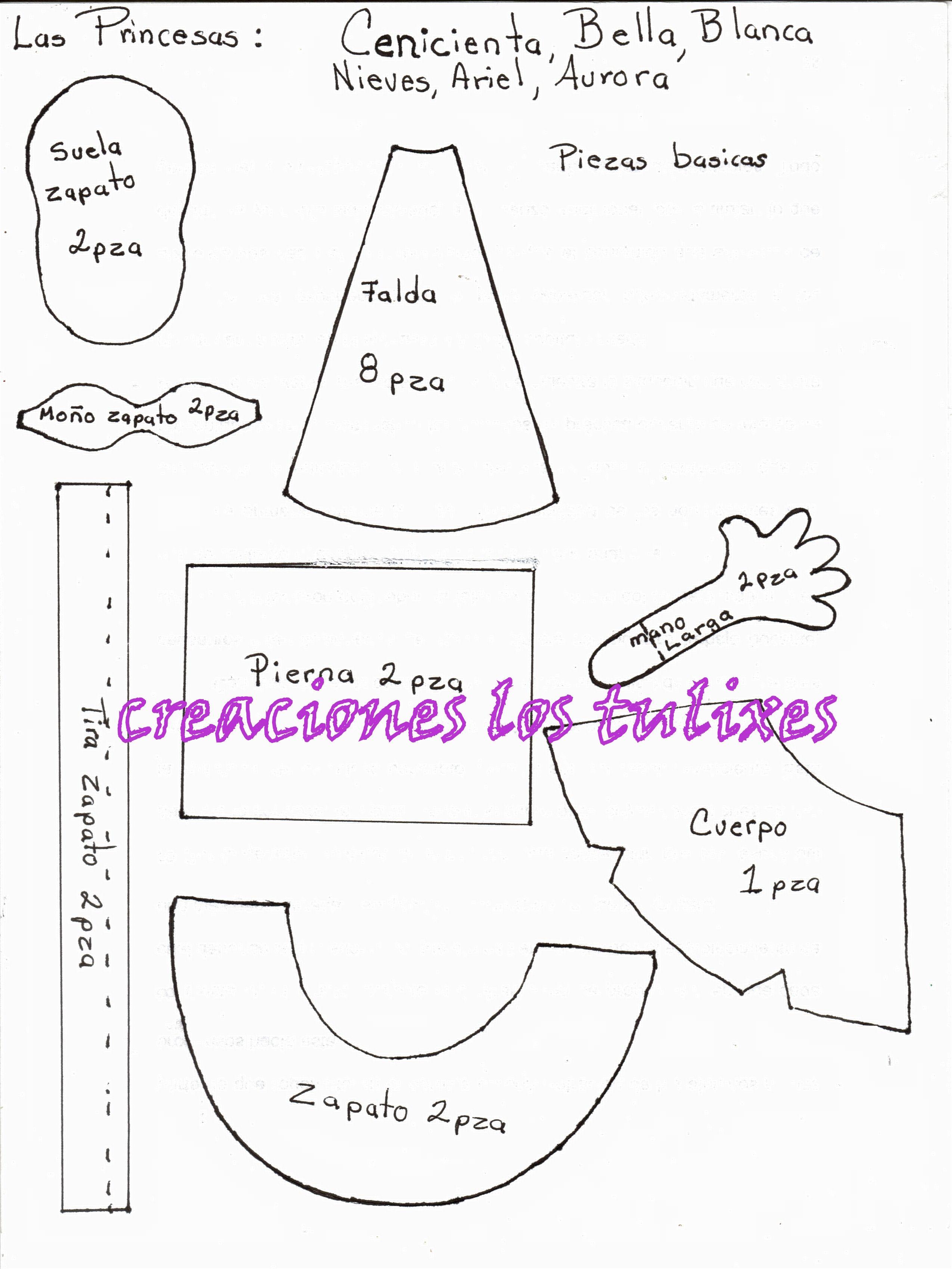 molde cenicienta | fofucha | Pinterest