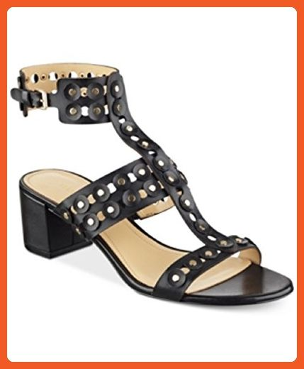 b21fdc09edc2 Marc Fisher Jullep Women US 8 Black Gladiator Sandal - Sandals for women (  Amazon