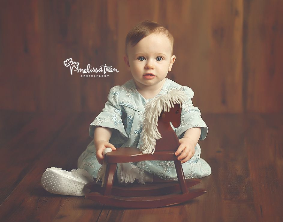 Photography · baby girl in vintage blue lace dress with