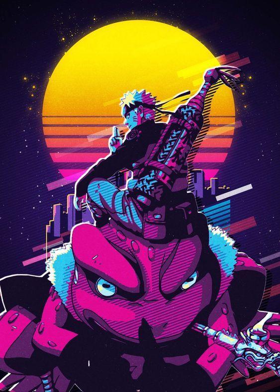 'Naruto' Metal Poster Print - San Creative   Displate