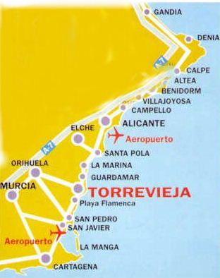 Kaart Torrevieja Omgeving Kaarten