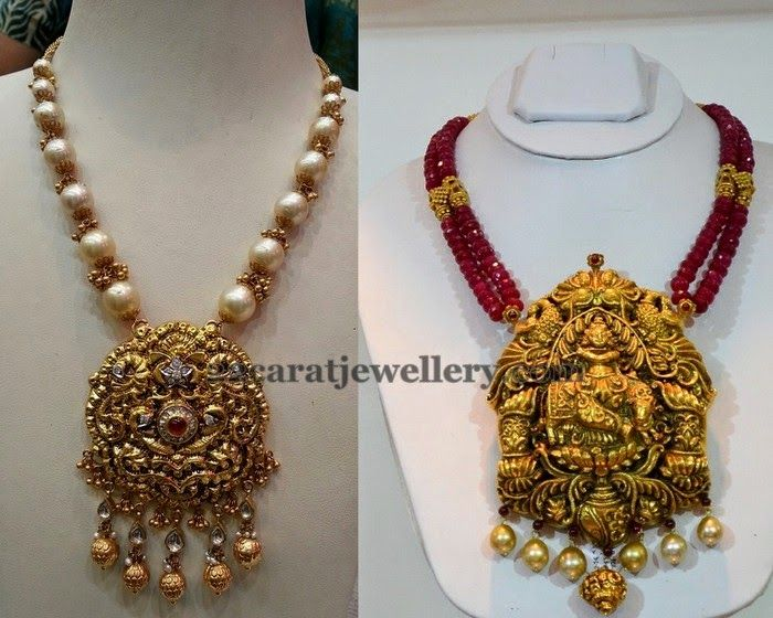 necklace bead jewellery designs ruby pendant beads krishna and pin necklaces