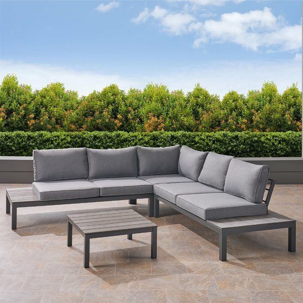 Best Caiden 4 Piece Sectional Seating Group With Cushions 400 x 300