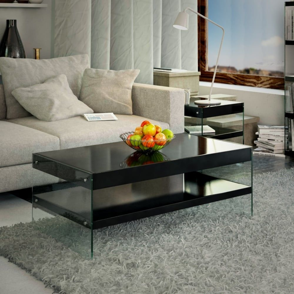 Emporium Home Waverley Black Gloss Coffee Table A Modern And