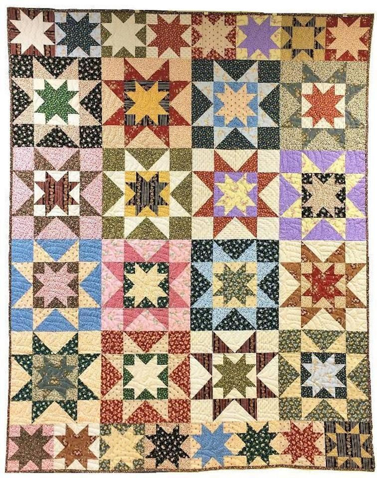 Learn how to make this Double Sawtooth Star Quilt with Craftsy\'s ...