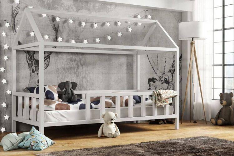 Kinderbett Kinder Hausbett Mit Rausfallschutz Holz Bett Kinder Bett Haus Kinder Bett Kinderbett Holz