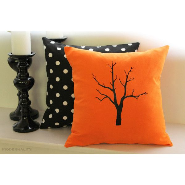 Halloween Pillow Cover Spooky Tree Halloween Decor Tree Silhouette