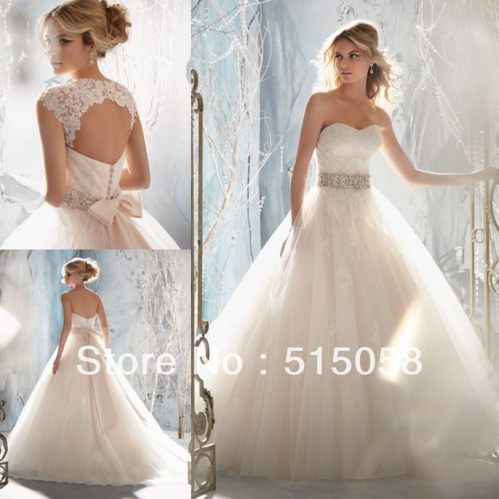 Removable lace jackets open back ivory tulle princess ball for All lace wedding dress open back