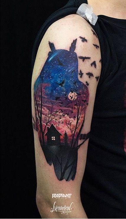 Lukovnikov Owl Tattoo Owl Tattoo Design Tattoo Designs Nature Tattoos