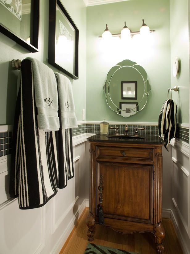 Bathroom Sinks and Vanities | Tiny powder rooms, Powder room and Hgtv