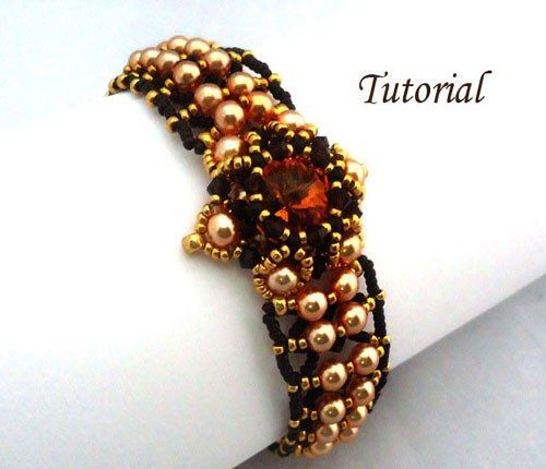 This Marigold Bracelet Is Beautiful Elegant And A Fun Beading Project When You Are