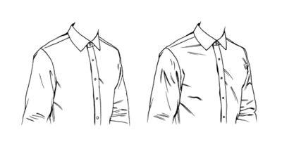 Full & Tailored Shirt Differences (for Proper Cloth), pen.  AD Seph Skerritt