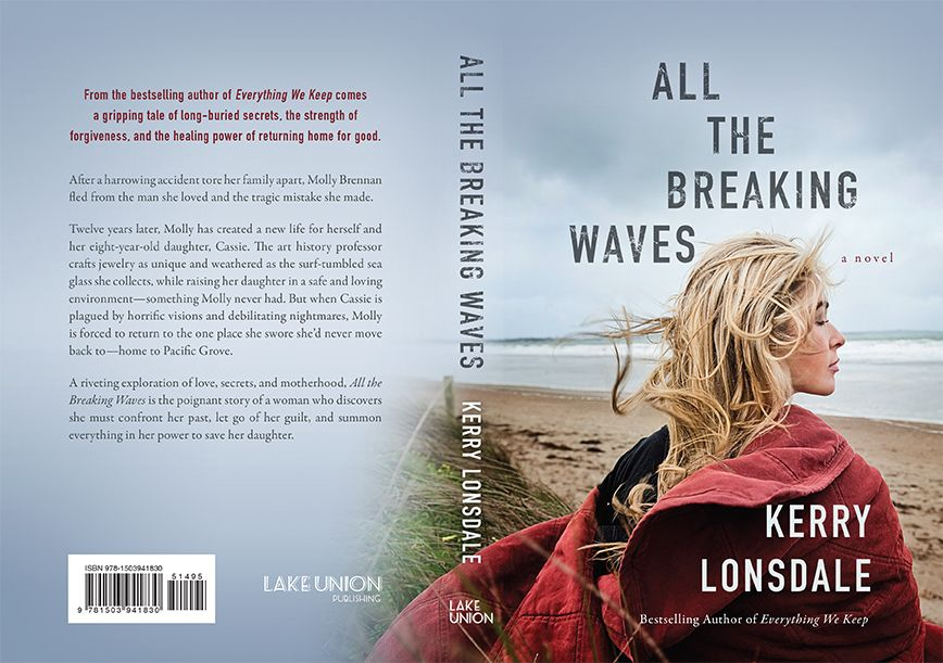 All the Breaking Waves. Full cover spread. Publishes December 6, 2016 from Lake Union Publishing.