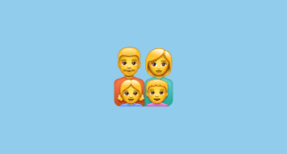 A Family With A Father Mother Daughter And Son The Family Man Woman Girl Boy Emoji Is A Sequence Of The Man Woman Girl And Boys Man Women