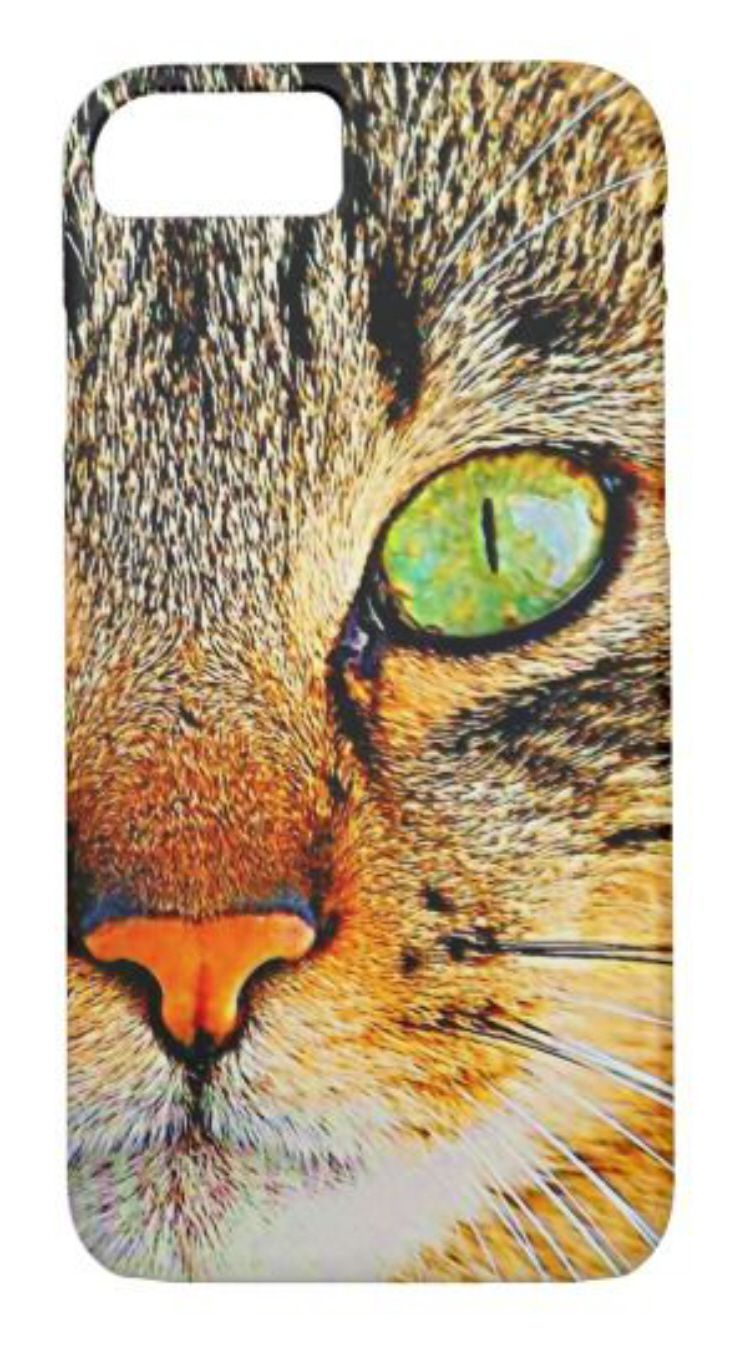 Cat Photo Iphone 7 Or Iphone 6 Case Cool Close Up Photo Of A Tiger Or Calico Kitty Face Cute Kitten With Green Cats Iphone Cases Cats Iphone Cats Phone Case