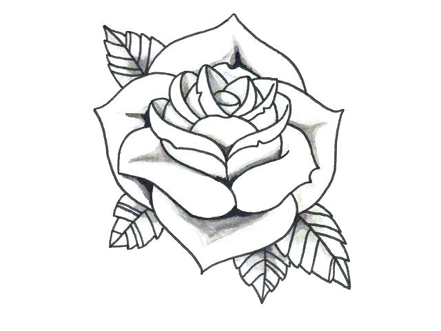 Gallery For Simple Tattoo Flash Outlines Flower Outline Tattoo Rose Outline Tattoo Flower Outline