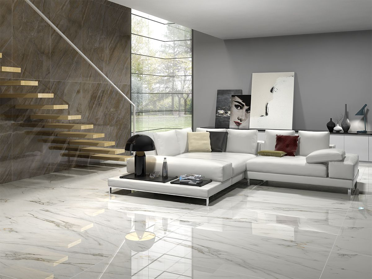 11d rendering artwork 11/11  Floor tile design, Living room tiles