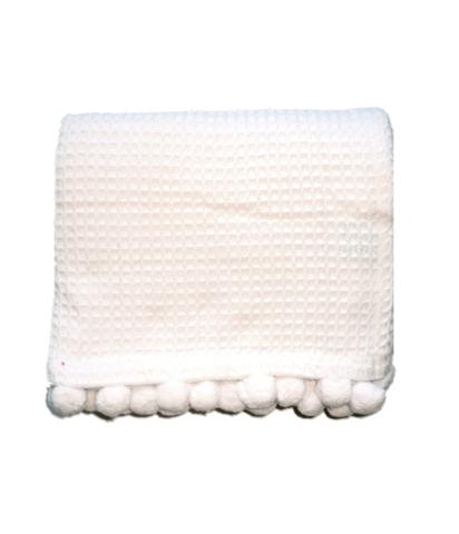 waffle knit. pom poms. monogrammed.