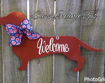 Boxer Door Hanger, Dog Door Hanger, Boxer Dog, Welcome Sign, Dog Door Decoration, Boxer Dog Wreath by SassyHangUps