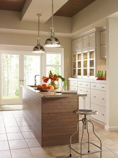 Dynasty By Omega Cabinetry: Cayhill Maple Magnolia And Cherry Riverbed    Contemporary   Kitchen