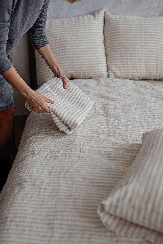 Linen Sheets Bedding, Linen Bed Sheets Queen Size