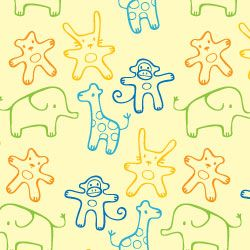 Jungle Animals Theme Gift Wrapping Paper Set 2 Sheets /& 2 Gift Tags