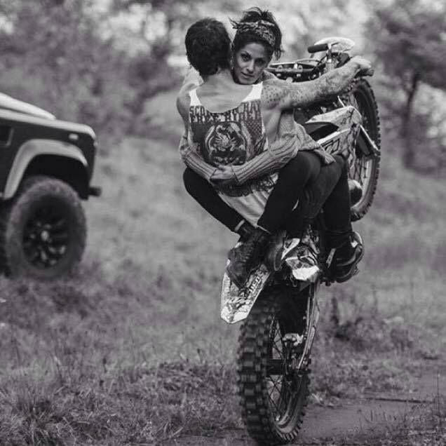 Motorcycles And Other Beautiful Things Ragazza Da Moto Da Cross