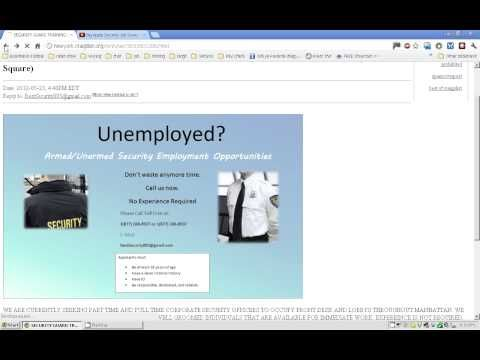 Craigslist Security Guard Job Scams SecurityguardtruthBlogspot