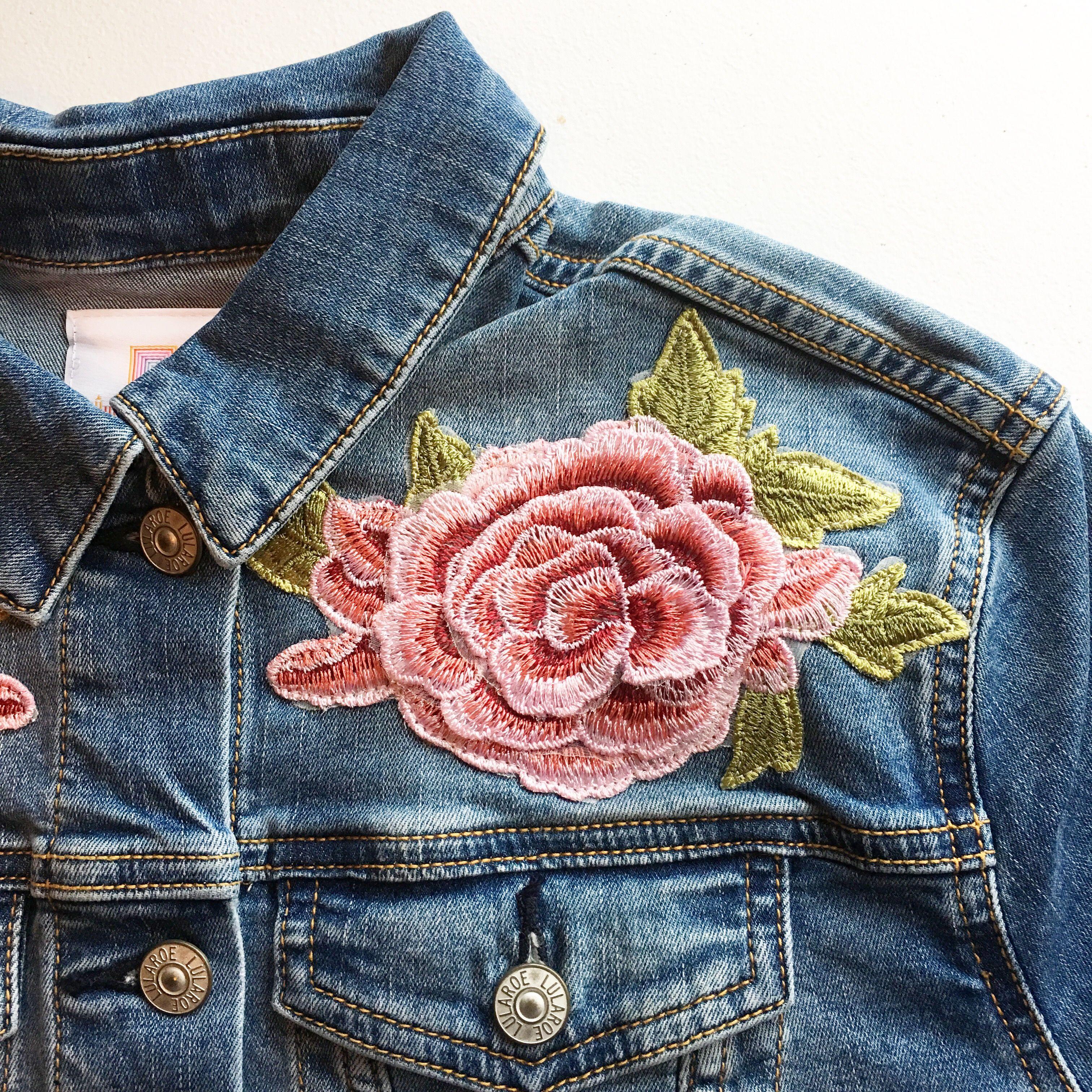 Lularoe 3d Roses Harvey Denim Jacket Lularoelizzyb Lula Roe Outfits Denim Jacket Jackets [ 3024 x 3024 Pixel ]