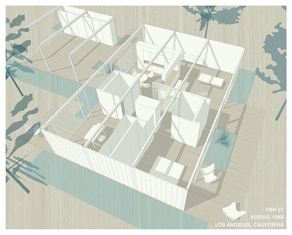 Case Study House 21 | nice drawings | Pinterest | House and Architecture