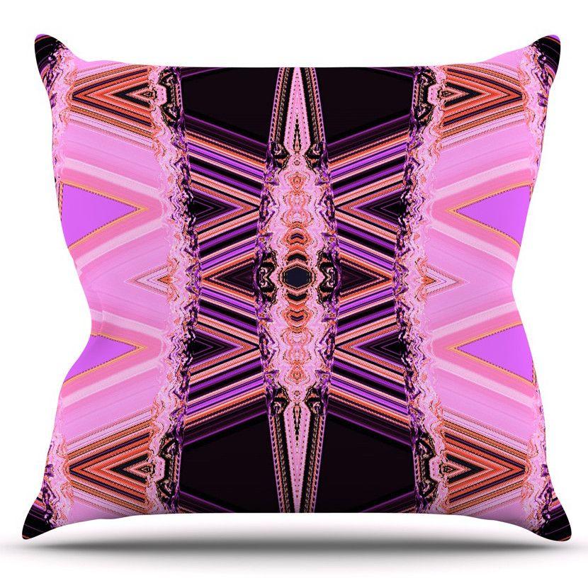 Decorama by Nina May Outdoor Throw Pillow