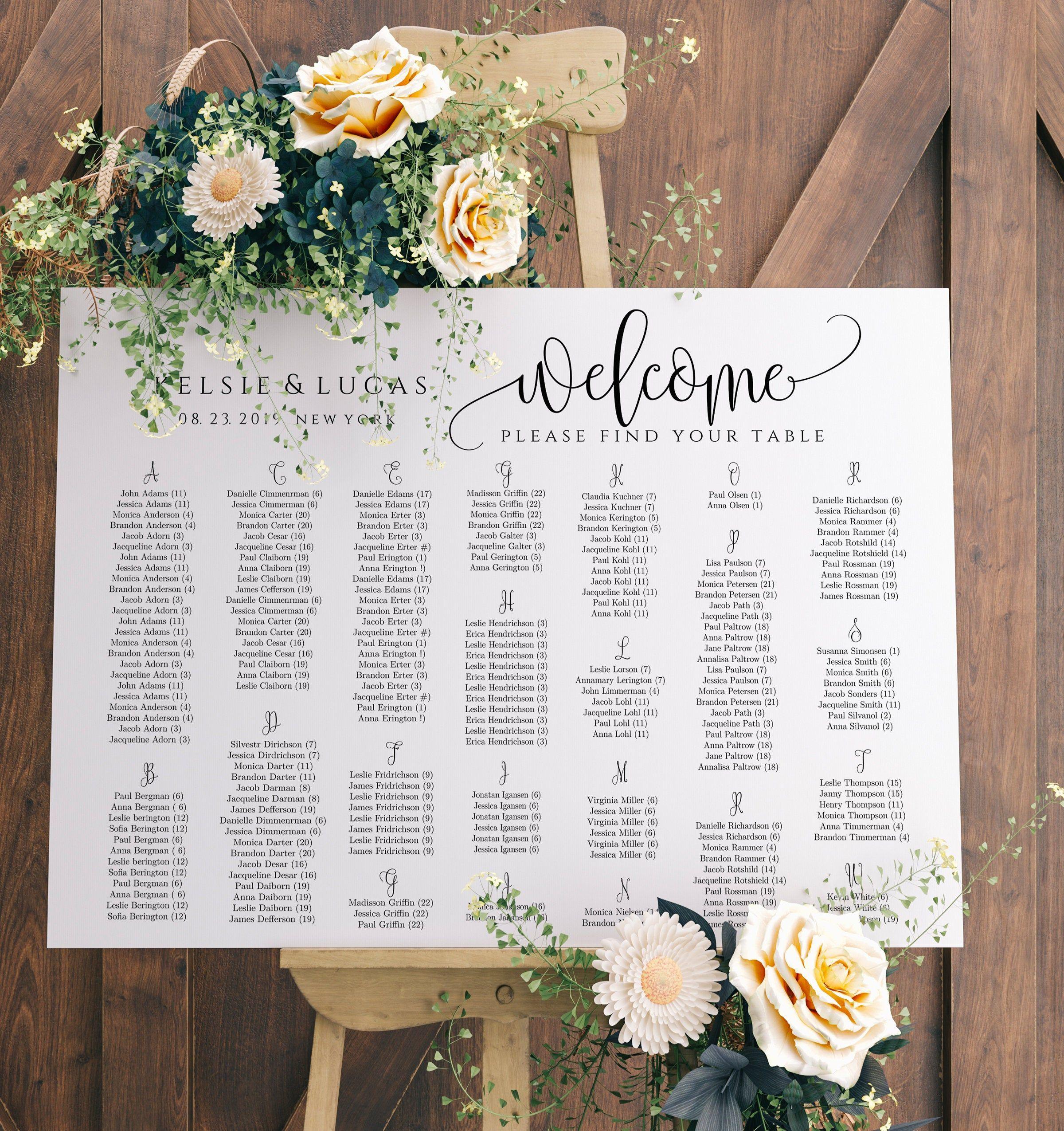 Pin On Seating Chart Wedding