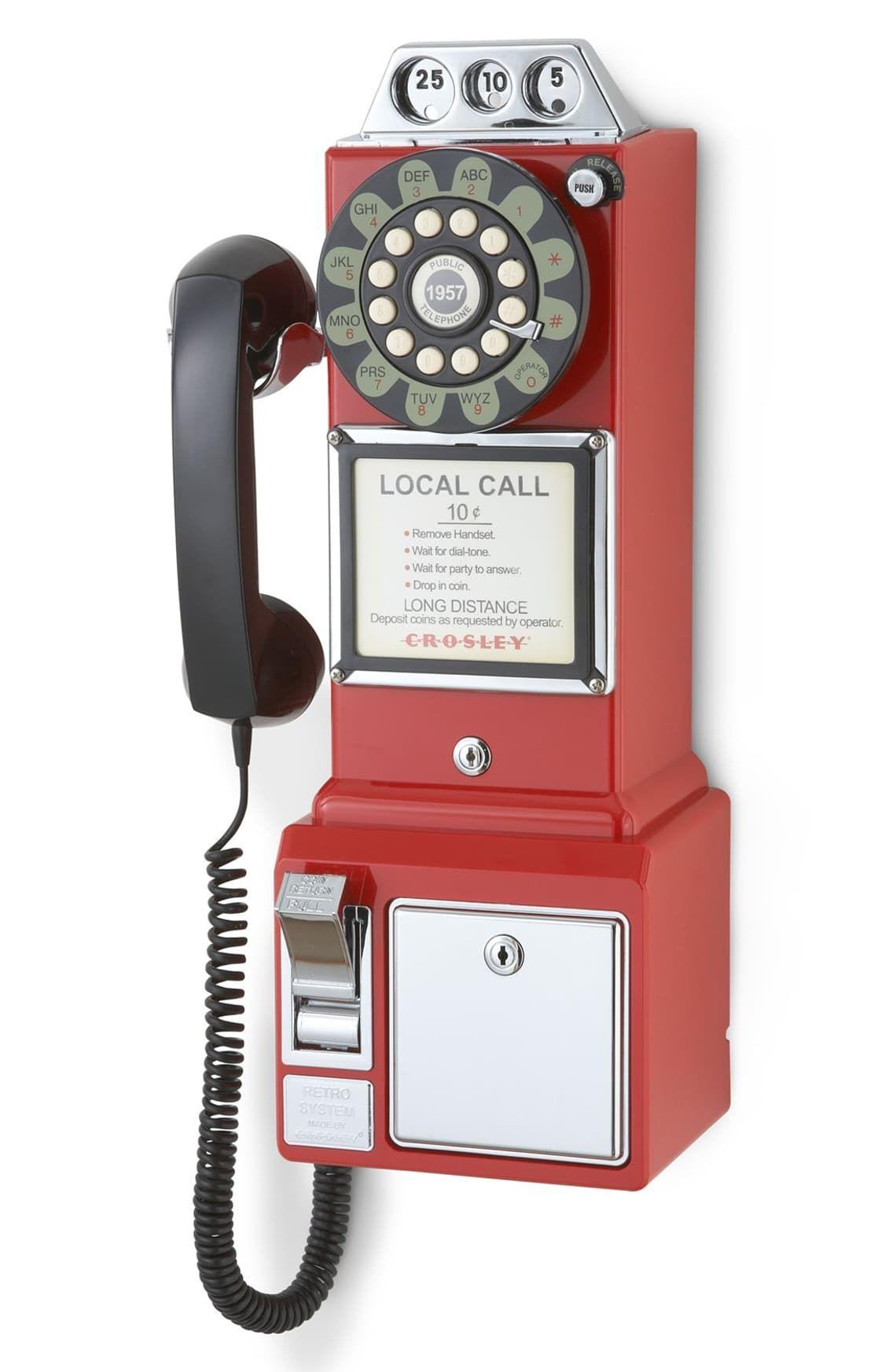 Crosley Radio 'Pay Phone' Wall Phone Pay phone, Wall