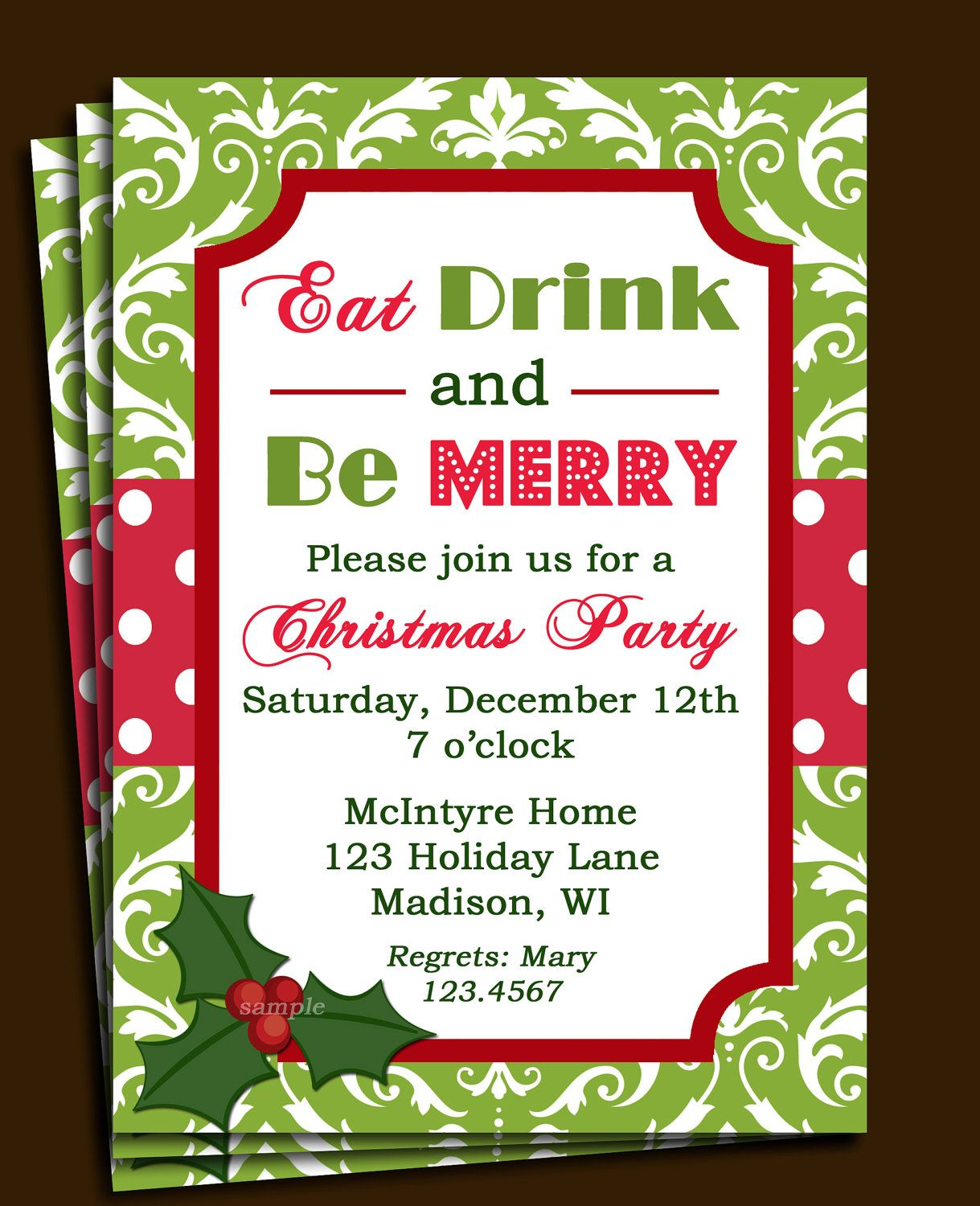 Free Printable Office Christmas Party Invitations