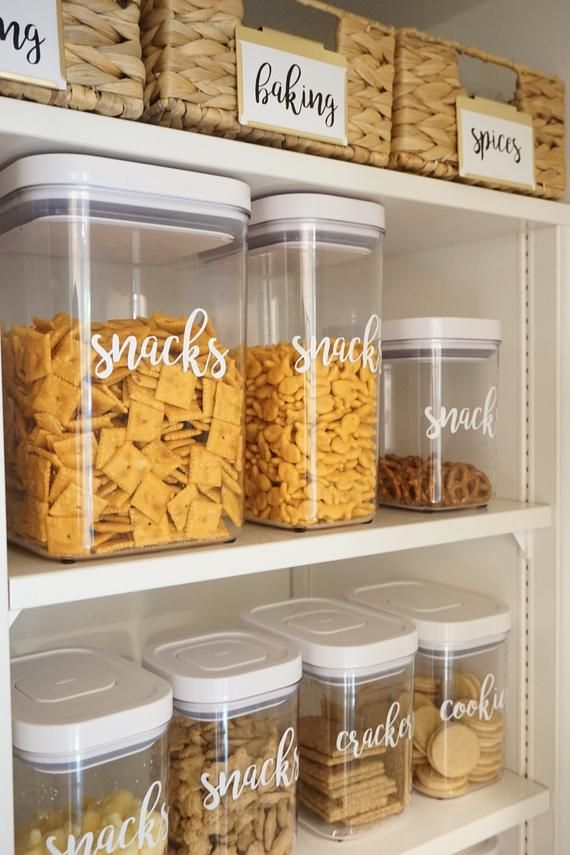 Parisa's Pantry Storage Container Labels - Set of 30