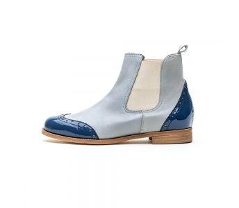 Mauro Leone 469 Vitello Iceberg Sztyblety Buty Damskie Spring Boots Boots Chelsea Boots