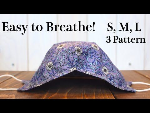 Photo of 【3 Size Pattern】Breathable Face Mask with Filter Pocket Sewing Tutorial