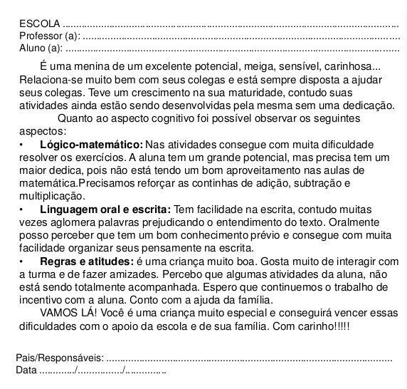 Modelos De Relatrios De Alunos Simone Helen Drumond 9 728 Jpg 572