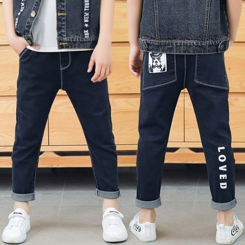 7c2af65b07 Spring newest fashion style black boys jeans soft material fit children  pants