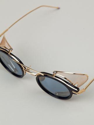 Thom Browne gafas de sol con montura redonda