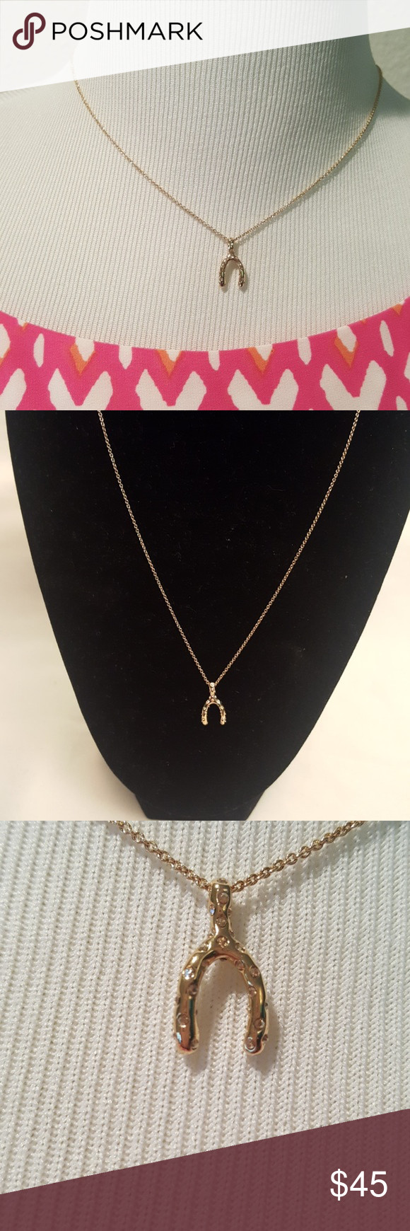"""New Coach Wishbone Necklace Up to 17"""" with 2"""" extender"""