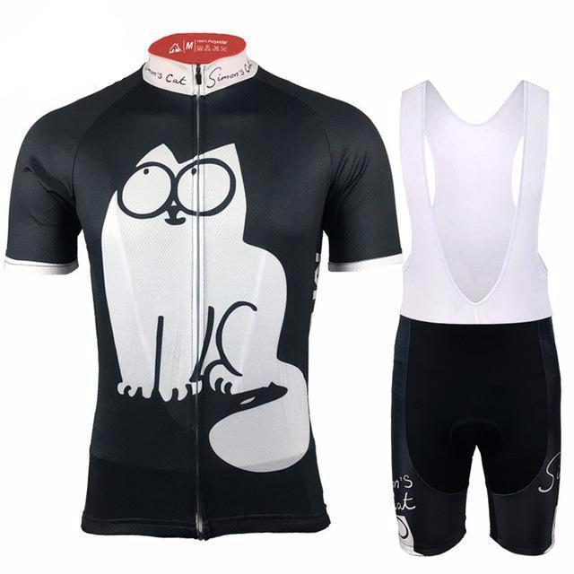 The cycling jersey from this Black Simon s Cat Cycling Kit is made from  high-quality 53b7c8471
