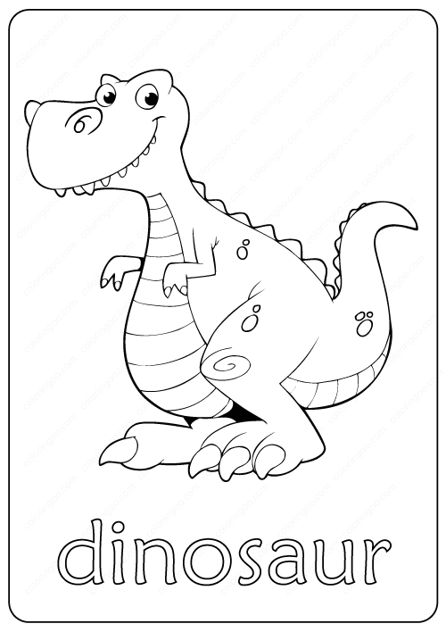 Printable Dinosaur Coloring Page Book Pdf In 2020 Dinosaur Coloring Pages Dinosaur Coloring Free Kids Coloring Pages