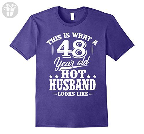 Mens Meaning T Shirt For Husband Men 48 Year Old Birthday Gifts Large Purple